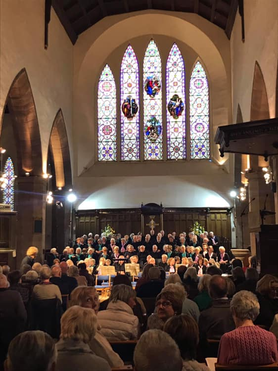 The Dalkeith Singers and Pentland Singers performing Brahms Requiem in Greyfriars Kirk.